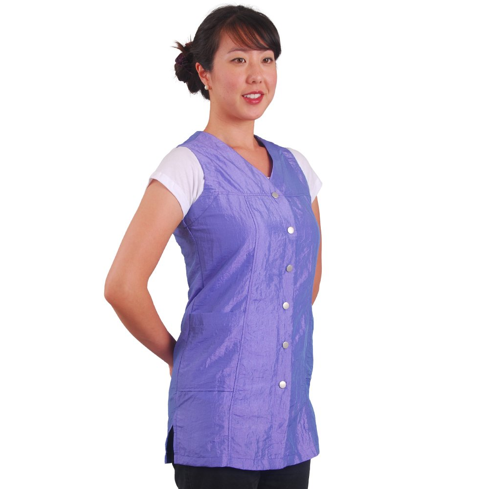 JMT Beauty Sleeveless Purple Salon Smock (XS (0-4)) by JMT Beauty