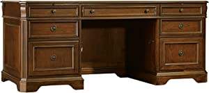 Hooker Furniture Distressed Medium Clear Cherry Executive Desk 281-10-583