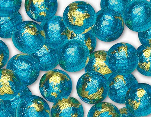 Madelaine Solid Premium Milk Chocolate World Globe Balls (1 LB) -