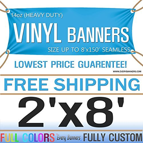 2'x8' Custom Full Color Vinyl Banners Vinyl Signs by SignsinaSnap - Digitally Printed by expo-express -