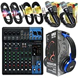 Yamaha Package Bundle - Yamaha MG10XU 10-channel Analog Mixer + EMB EBH700 Pro Preminum Wire Headphone + 2 EMB Emic800 Microphones + 2 XLR XLarge Cables + 2 1/4'' To 1/4'' Cable