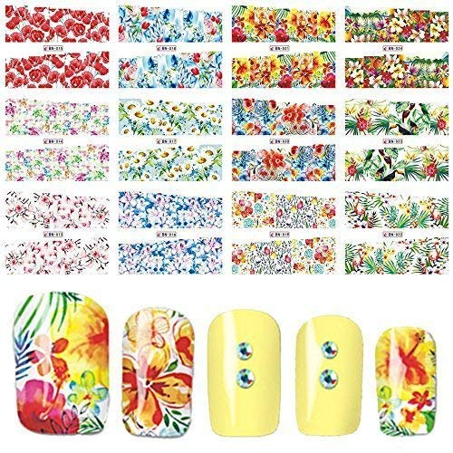 12 sets African safari Tribal island Celestial flowers NAIL ART STICKERS animals flamingo Sunflowers french lavender cherry blossom NAIL DECALS tulips red rose petals jasmine peony USO TATAU (Hawaii Peonies)