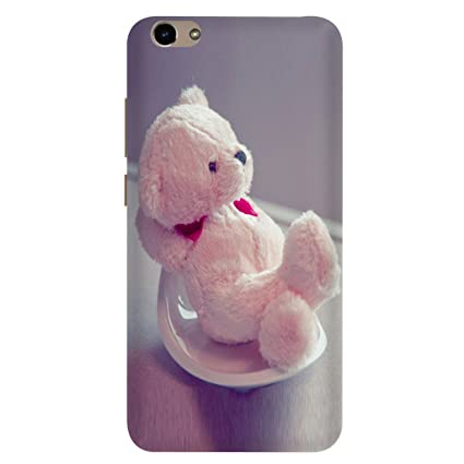 brand new b891d dba79 Vivo Y66 Back Cover/Vivo Y66 Mobile Cover/Vivo Y66 Teddy Bear Printed Pink  Back Cover by Case Cover