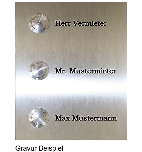 Gosling - Placa de timbre con 3 pulsadores (acero inoxidable ...
