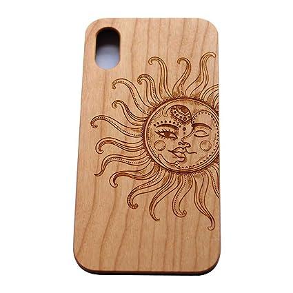 Amazon.com: vivipow Madera teléfono celular para iPhone X, X ...