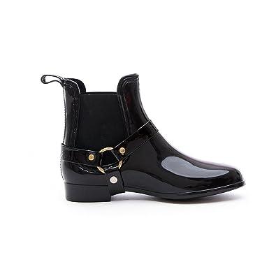 Soho Shoes Women\u0027s Fashion Low Cut Ankle Rain Boots with Straps