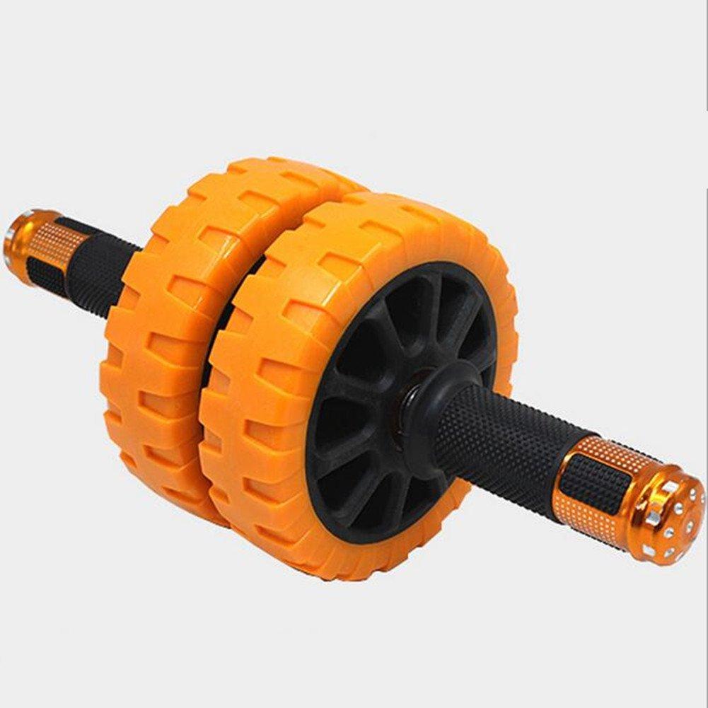 Bauchtrainer - Dual Wheel mit Schaumgriffen - Extra Knieschoner Mat AB Roller Wheel Workout