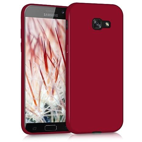 kwmobile Funda para Samsung Galaxy A5 (2017) - Carcasa para móvil en [TPU Silicona] - Protector [Trasero] en [Rojo Mate]