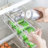 LayTmore 2-Tier Metal Wire Standing Pop/Soda and Food Can Dispenser Storage Rack Organizer for Kitchen Pantry, Countertop, Cabinet