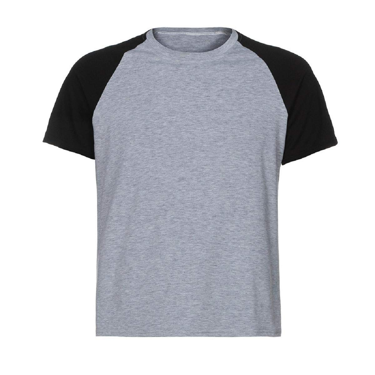 MISYAA Muscle T Shirts for Men Color Match Short Sleeve Tank Top Breathable Sport Tees Tight Activewear Gifts Mens Tops