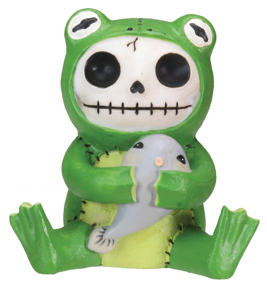 Froggie Frog Furry Bones Figurine Display