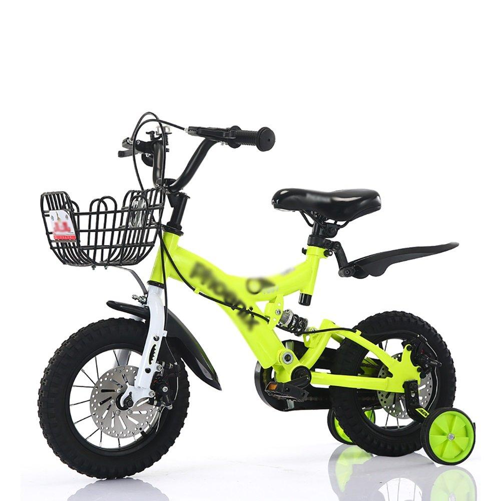 子供の自転車2歳から10歳の赤ちゃんの子供のペダル自転車の少年の赤ちゃんのキャリッジバイク赤黄色の青 B07DVJX2YV 18 inch|イエロー いえろ゜ イエロー いえろ゜ 18 inch