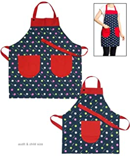 3d4bea72acf4 Zhongpai Mom and Daughter Apron Cooking/Baking Apron with Pocket Great Gift  to Mother and