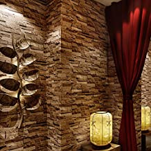 GXX [Chinese style]3D simulation of rock culture stone wallpaper/Vintage stone stones tiles pattern wallpaper/ brick dining room wallpaper-B