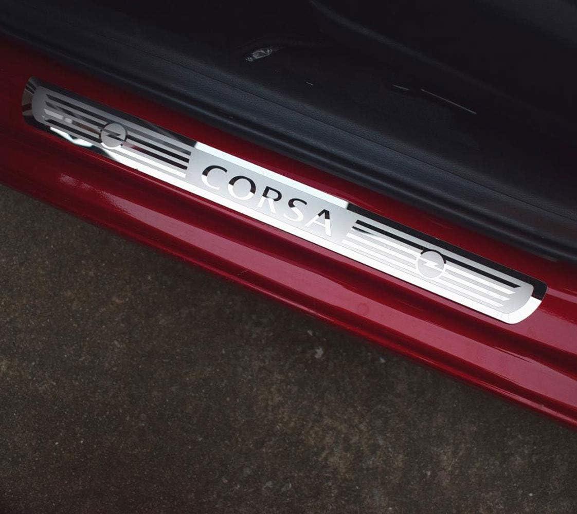 NA Protector de umbral de Puerta de Coche de 4 Piezas para Opel Astra Corsa Adam 2016-2019 Acero Inoxidable Ajuste del umbral del Pedal de Desgaste Placa de protecci/ón Accesorios de teletipo