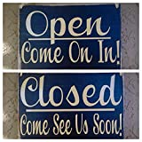 Cheap Prim and Proper Decor Open.Come on In/Closed.Come Again Soon 8×6 (Choose Color) Office Custom Rustic Wood Sign