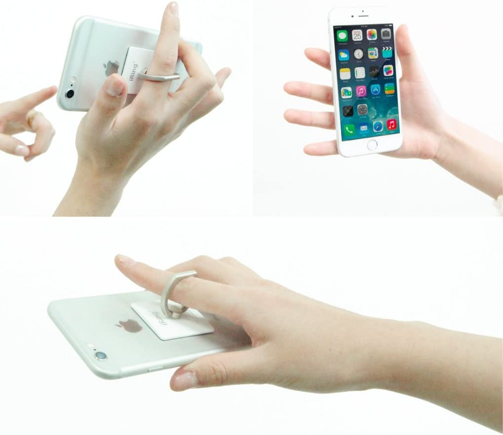 iRing Premium Style Ring, Smartphone, Teléfono móvil soporte de Asidero, Stand, coche, Selfie, para iPhone 6/6plus/6S, Galaxy 5/S6/Note, Sony Xperia Z5, LG G4/Nexus 5 x, Huawei G8/P8, HTC One A9/M9/Desire: Amazon.es: Electrónica
