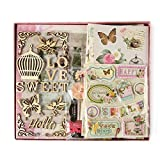 "FaCraft Love Scrapbook Kit for Girls (8x8"",Pink)"