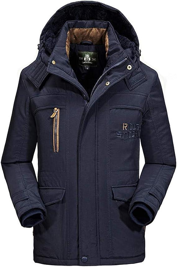 Homme élégant manteau épais Parka outdoor Casual Veste Outwear à capuche Manteaux 2019