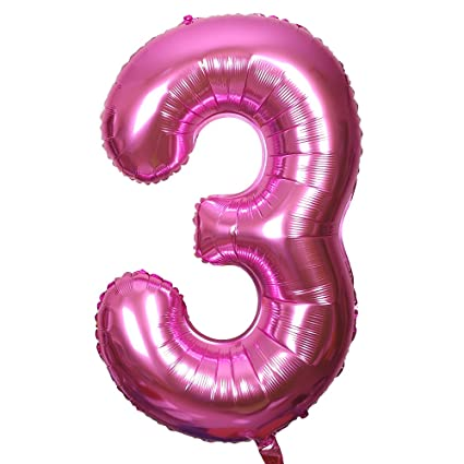 Smarcy Globos Número 3 Decoración de Cumpleaños 3 Años ...