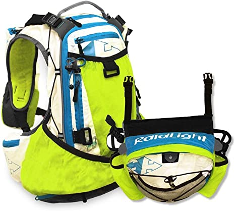 RAIDLIGHT ULTRA OLMO 20 HYDRATION PACK WITH 4L FRONT PACK (WHITE/LIME): Amazon.es: Deportes y aire libre