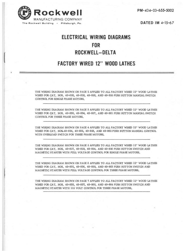 Delta rockwell electrical wiring diagrams factory wired 12 wood delta rockwell electrical wiring diagrams factory wired 12 wood lathes amazon books swarovskicordoba Choice Image