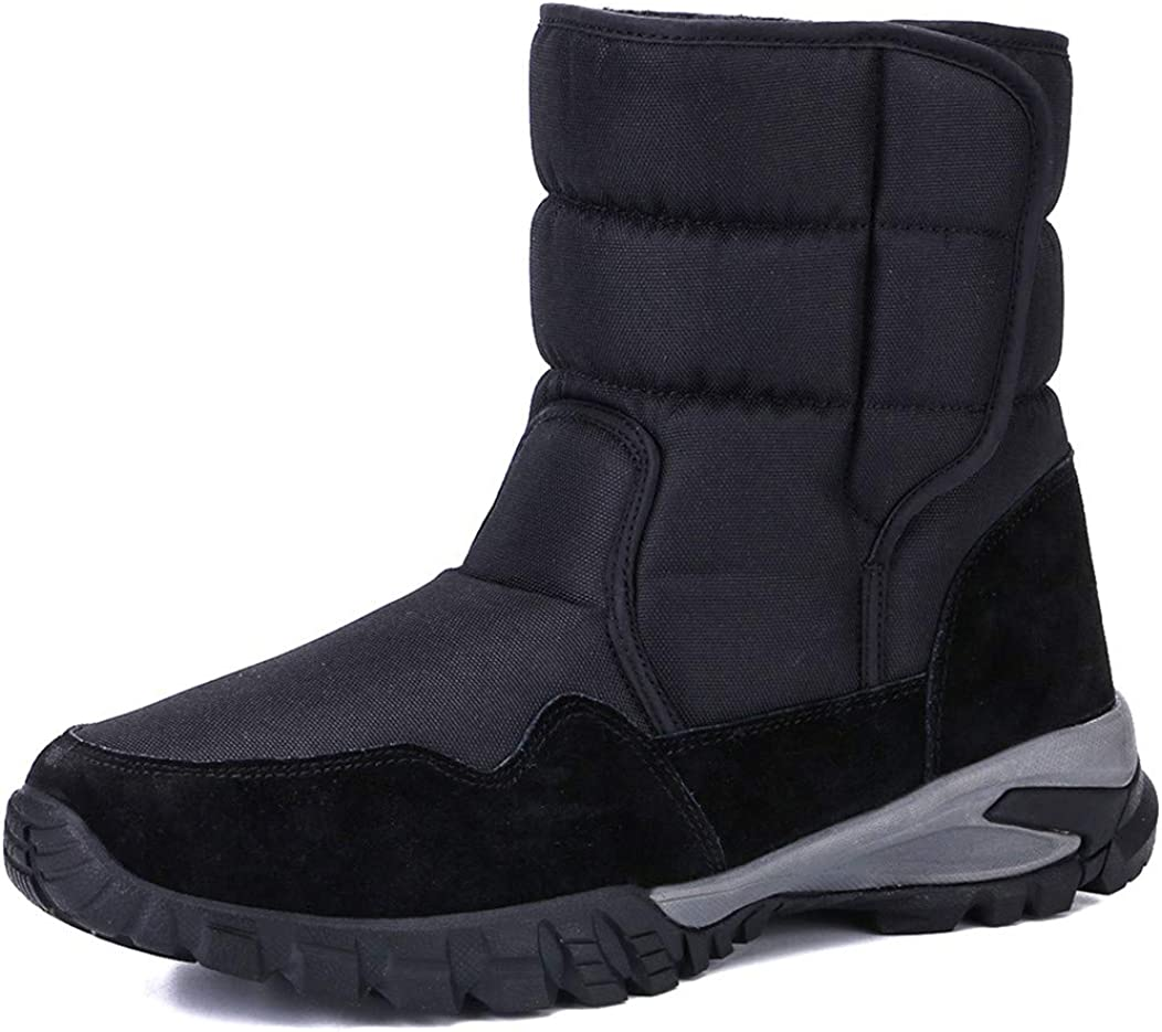 Amazon.com   DADAWEN Men's Winter Snow Boots Outdoor Waterproof Anti-Slip  Warm Fur Lined Cold Weather Boots   Snow Boots