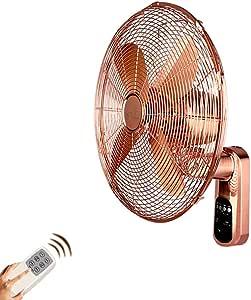 LNDDP Ventilador para Colgar en la Pared Oro Rosa Control Remoto ...