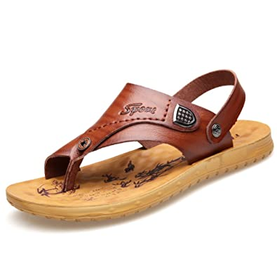 En Flip Hommes Cuir Mocassins Chaussures Respirant Flops pAwtPawq