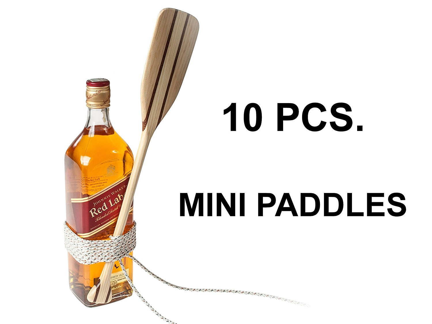 Wooden Pine Mahogany Mini Paddle - excellent Gift for Sailers Canoeists Kayakers Rafters etc. x 10 pcs.