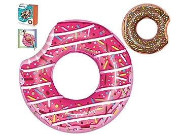eurojuguetes Flotador con Forma Donut Diametro 107cm Surtido A Elegir 1: Amazon.es: Juguetes y juegos