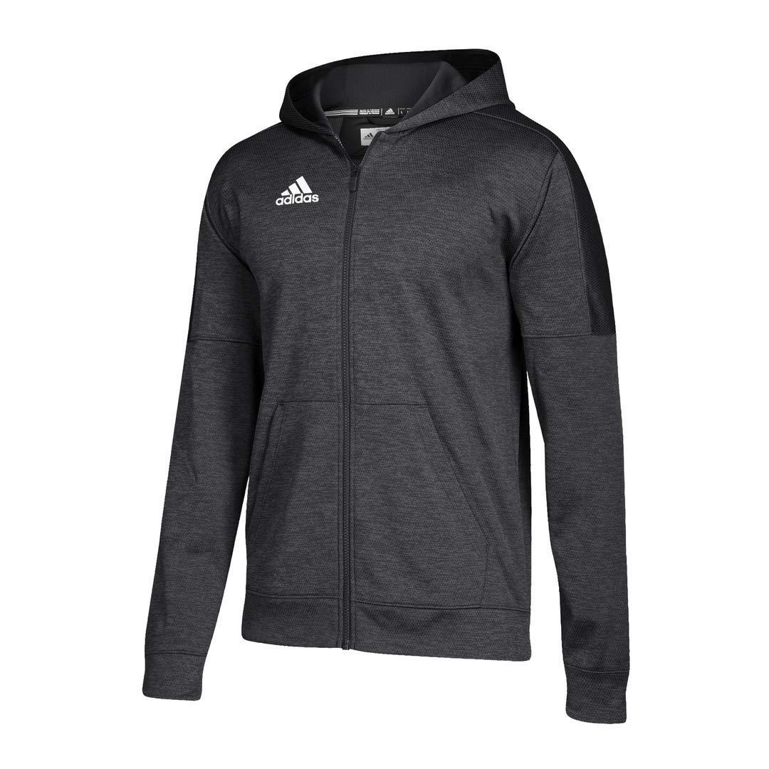 noir Melange blanc XX-grand adidas Athletics Team problème Sweat à Capuche zippé pour, Noir, Melange Blanc