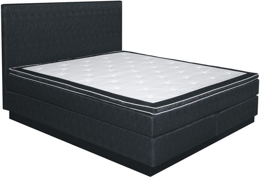 Cama con somier cama 120 x 200 cm antracita: Amazon.es ...