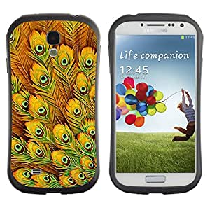 Suave TPU GEL Carcasa Funda Silicona Blando Estuche Caso de protección (para) Samsung Galaxy S4 I9500 / CECELL Phone case / / Yellow Feathers Vibrant Bird Africa /