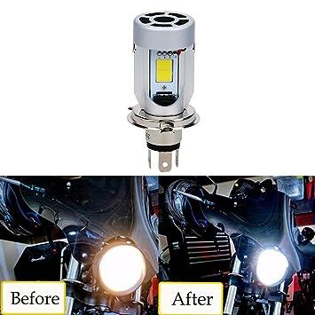 Bombilla H4 LED para Faro de Moto,20W 2000LM Reemplazo de la Luz Halógena,
