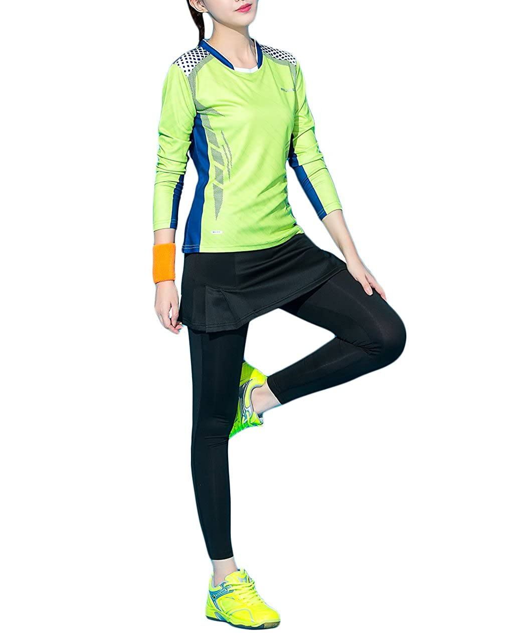 7bfa92115da9f Amazon.com: UDIY Skirted Leggings - Women's Running Skirts Casual Gym  Tennis Skort with Leggings: Clothing