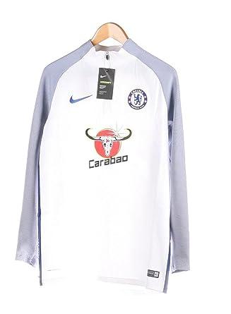 2c82eb16 Nike Mens CFC MNK AROSWFT STRKE DRIL TOP 905406-102_XL - White/White/Rush  Blue/Rush Blue at Amazon Men's Clothing store: