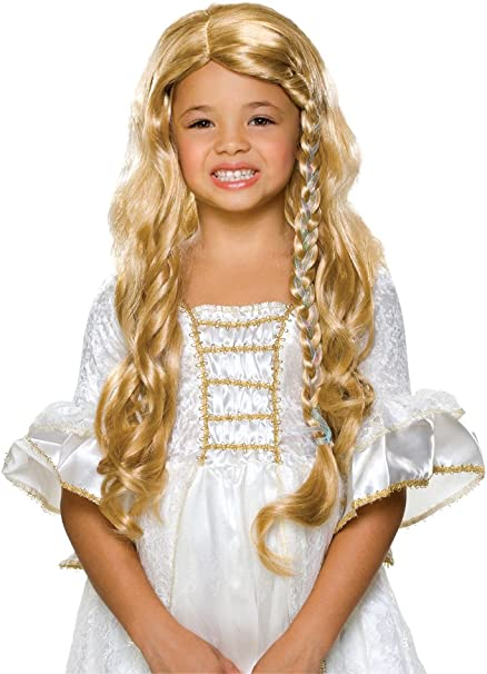 Baby Doll Wig Long Curls Little Girl Halloween Adult Costume Accessory 3 COLORS