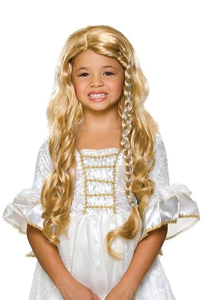 Amazon.com: Rubie's Glamorous Princess Child's Costume Wig, Blonde ...