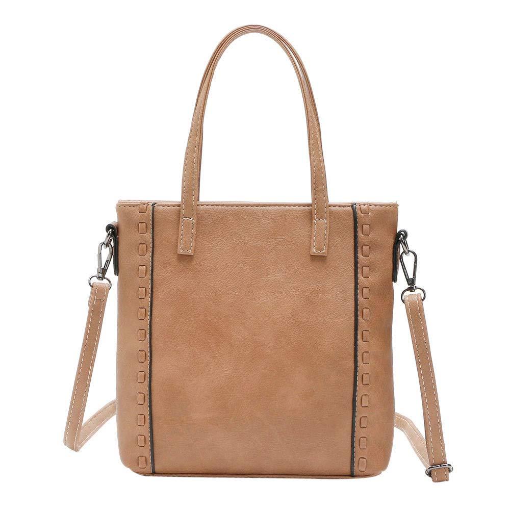 Women Shoulder Bag Hand-Woven Dual-Use Portable Messenger Bag