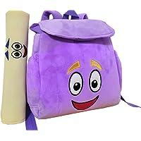 12inch Dora Explorer Backpack Rescue Bag with Map,Pre-Kindergarten Toys Purple Plush Backpack (Crystal purple Dora…