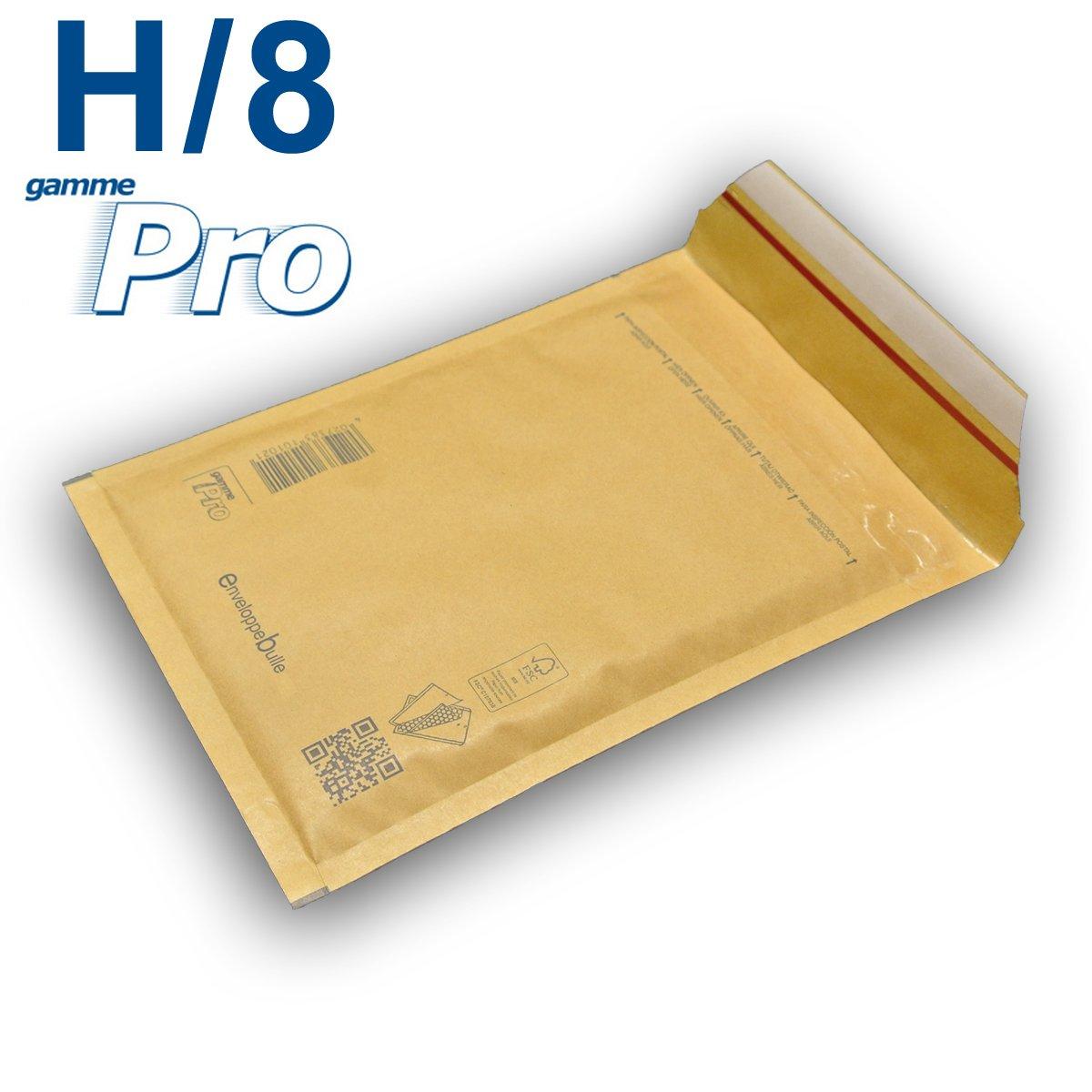 Lot de 50 enveloppes à bulles *MARRON* gamme PRO H/8 format 260x360mm enveloppebulle