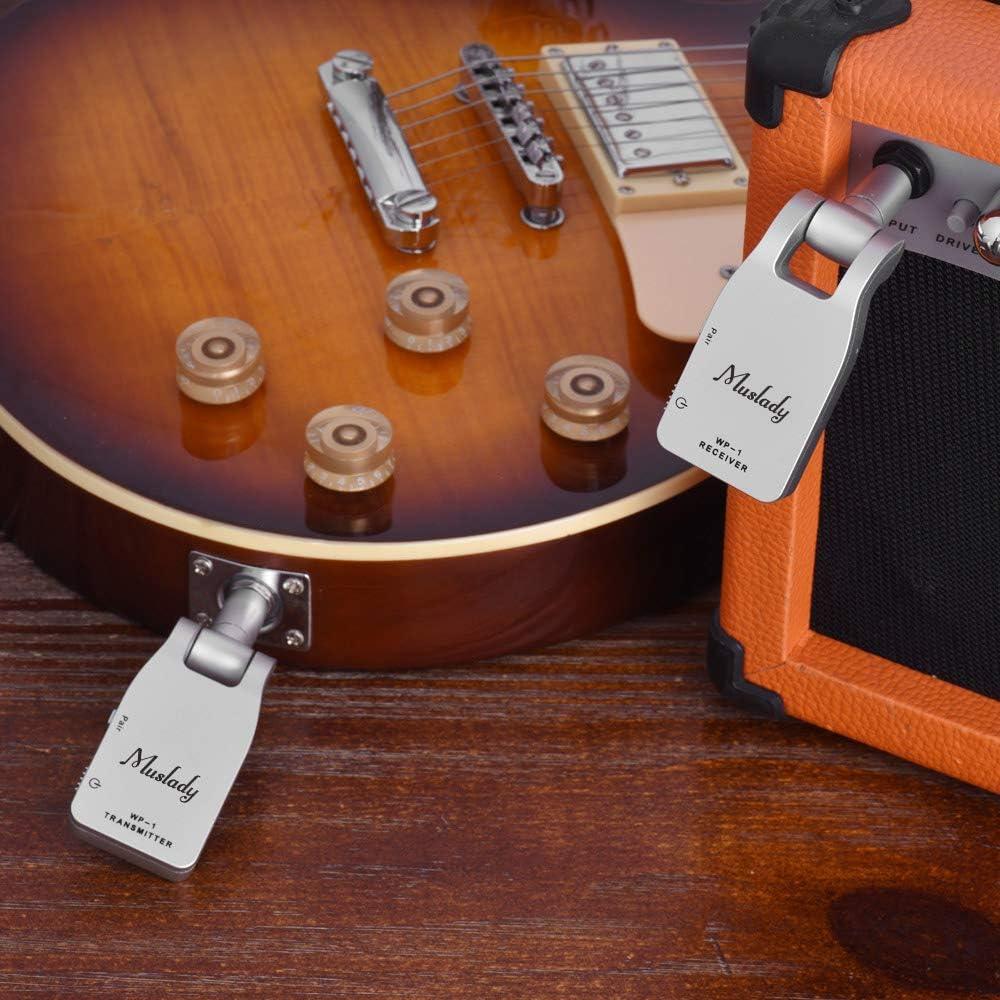 Muslady Transmisor y Receptor Sistema de Guitarra Inalámbrica 2.4 ...