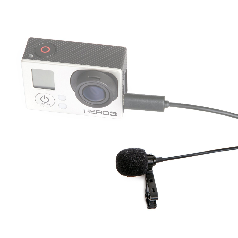 HERO3 y HERO4 Ediciones Negro Blanco y Plata Movo GM100 Micr/ófono de Solapa Corbata Condensador Omnidireccional para GoPro HERO3