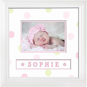 pearhead personalised baby photo frame pink amazon co uk baby