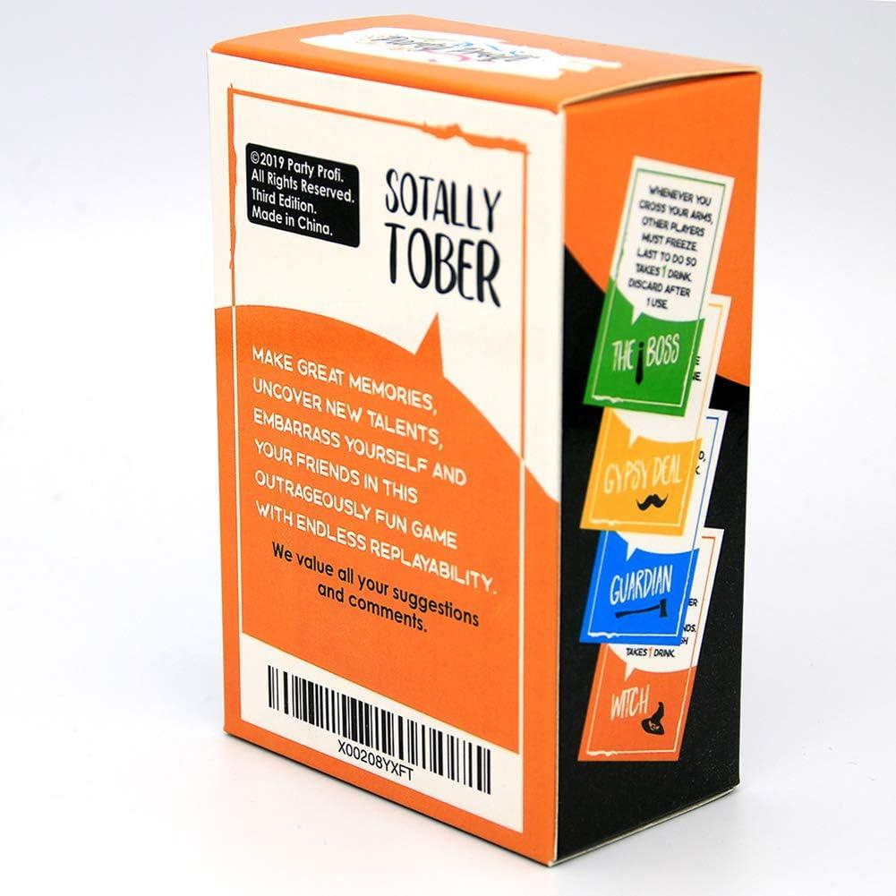 GWLTV Juegos de Mesa Juguetes Sotally Tober Beber Alcohol Tarjeta de Juego Adulta Que Bebe el Partido de la Tarjeta del Juego: Amazon.es: Hogar