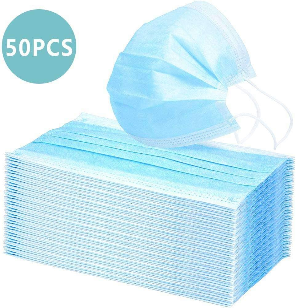 disposable ear loop face masks medical germ protection 3 layer