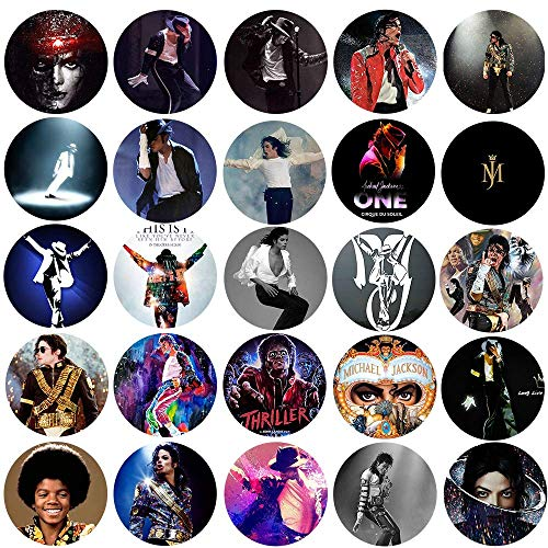 (UniqueNO1 The Bigger Vivider Badge Button Pin Pinback Button for Michael Jackson Fans 1.75inch Pack of 25)