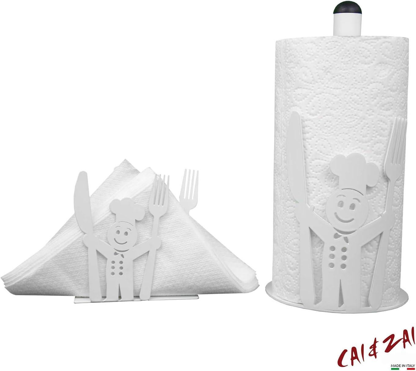 Portascittex CAI /& ZAI-Set Cuoco-Portarrollos /& Servilletero-Dise/ño-Made in Itaty