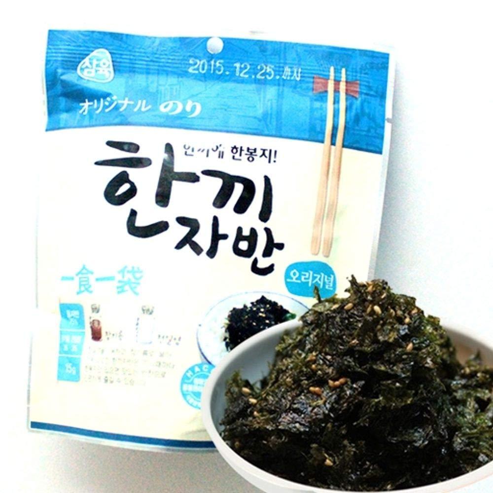 Seasoned Seaweed with Sesame Seeds 15g x 10 packs, Korean Product